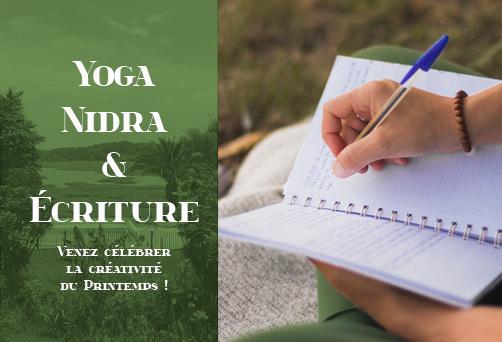 Yoga Nidra & Ecriture – Venez Célébrer la Créativité du Printemps